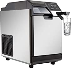 VEVOR 2 in 1 Commercial Ice Maker with Water Dispenser 78LBS in 24 Hrs 14LBS Storage 32 Cubes in One Cycle w/Scoop Perfect for Office Snack Bar, 78 LBS