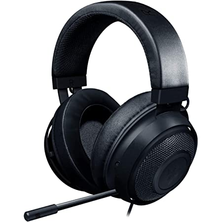 Razer Kraken Gaming Headset: Lightweight Aluminum Frame - Retractable Noise Isolating Microphone - For PC, PS4, PS5, Switch, Xbox One, Xbox Series X & S, Mobile - 3.5 mm Headphone Jack - Classic Black