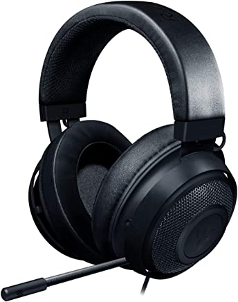 Razer Kraken Gaming Headset 2019: Lightweight Aluminum Frame - Retractable Noise Cancelling Mic - for PC, Xbox, PS4, Nintendo Switch - Black