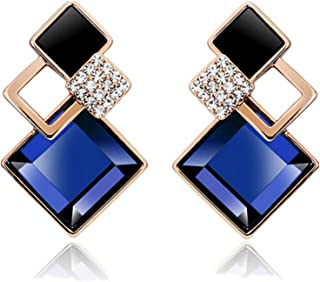 Sukkhi Crystals from Swarovski Drop Down Gold Plated Earring for Women and Girls (E81117)