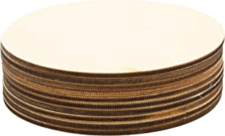 (10pc) Circle Blank Wood Round Plaque for Crafts Painting Wood Burning Engraving Machine Unfinished and Unpainted Wooden Cutout 4