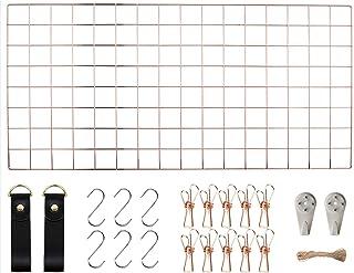 WUZILIN - Estante de Rejilla de Pared para Manualidades, de Hierro, para Colgar Fotos en el tablón de Notas, en la Famili...