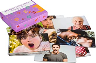 Attractivia Magnetic Flash Cards - 36 Large Feelings Cards Vol. 1 (Basic Emotions) - for Teachers, Parents, Therapists