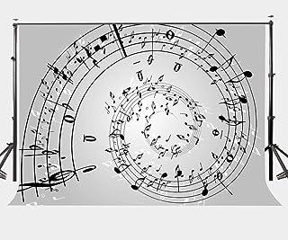 LYLYCTY LYGE548 Fotohintergrund mit Musiknoten, 2,8 x 1,5 m