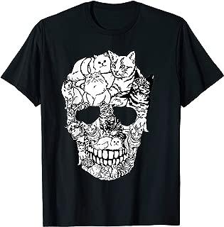 Skull Shirt - Kitty Skeleton Halloween Costume Skull Cat T-Shirt