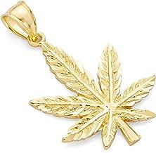 Best gold marijuana leaf pendant Reviews