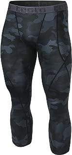 Men's Compression 3/4 Capri Pants Baselayer Cool Dry Sports Running Yoga Tights