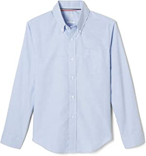 French Toast Boys' Long Sleeve Oxford Shirt (Standard & Husky)
