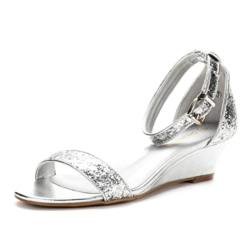 cf5e6ad8ea5a98 DREAM PAIRS Women s Ingrid Ankle Strap Low Wedge Sandal