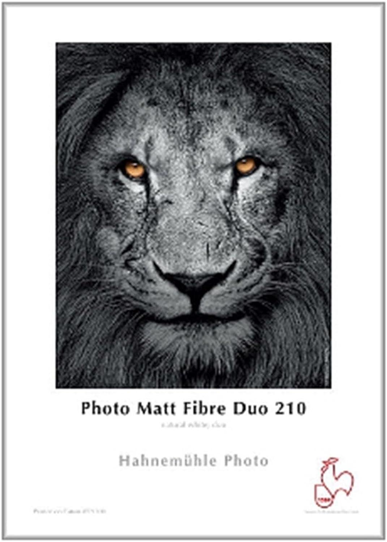Hahnemühle 10641913 Photo Matt Fibre Duo Papier, 210 g m², DIN A2, 420 x 594 mm, naturweiß B00IWVZK9U  | Die erste Reihe von umfassenden Spezifikationen für Kunden