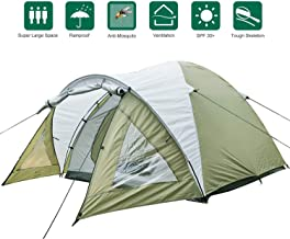 CAMPMORE Camping Tent 2 3 Person, Waterproof Dome Family Tent with Double Layer and Easy Assembly