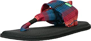 صندل حريمي Sanuk Yoga Sling 2، أسود متعدد الألوان، 6