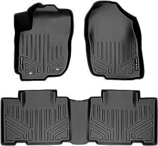 SMARTLINER Custom Fit Floor Mats 2 Row Liner Set Black for 2013-2018 Toyota RAV4 (No Electric or Hybrid Models)