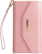 iDeal Of Sweden Mayfair Clutch Wallet in Pink Design for iPhone 8/7/6/6s Plus - Detachable Strap & Magnetic Phone Case w/Card Slots