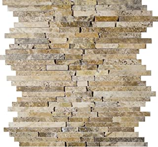 Epoch Tile SCRBR Scabos Tumbled Travertine Random Brick