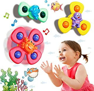 Spinning Baby Rattles with Suction Cup, Toddler Bath...