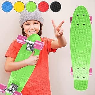 Planche /à roulettes Roulement /à Billes : ABEC 5 57cm Max.: 100 kg Choix de Couleurs Skateboard Planche 22 Physionics Skateboard Mini Cruiser Complet