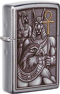 فندک جیبی Zippo Egypt Gods Emblem Design Street Chrome