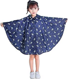 Bambini Impermeabile Giacca da Pioggia Poncho da Pioggia Bambina Incappucciato Riutilizzabile Cappotto di Pioggia Bello co...