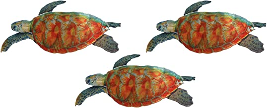 product image for Next Innovations Sea Turtle Wall Art, Metal Garden Wall Décor, Set of 3, Small