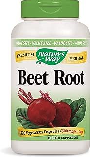 Nature's Way Beet Root; 1 gram Beet Root per serving; TRU-ID Certified; Gluten-Free; Vegetarian; 320 Capsules