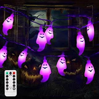 Litake Halloween Lights, LED Halloween String Lights Remote Battery Powered Ghost Lights for Halloween Decorations Outdoor...