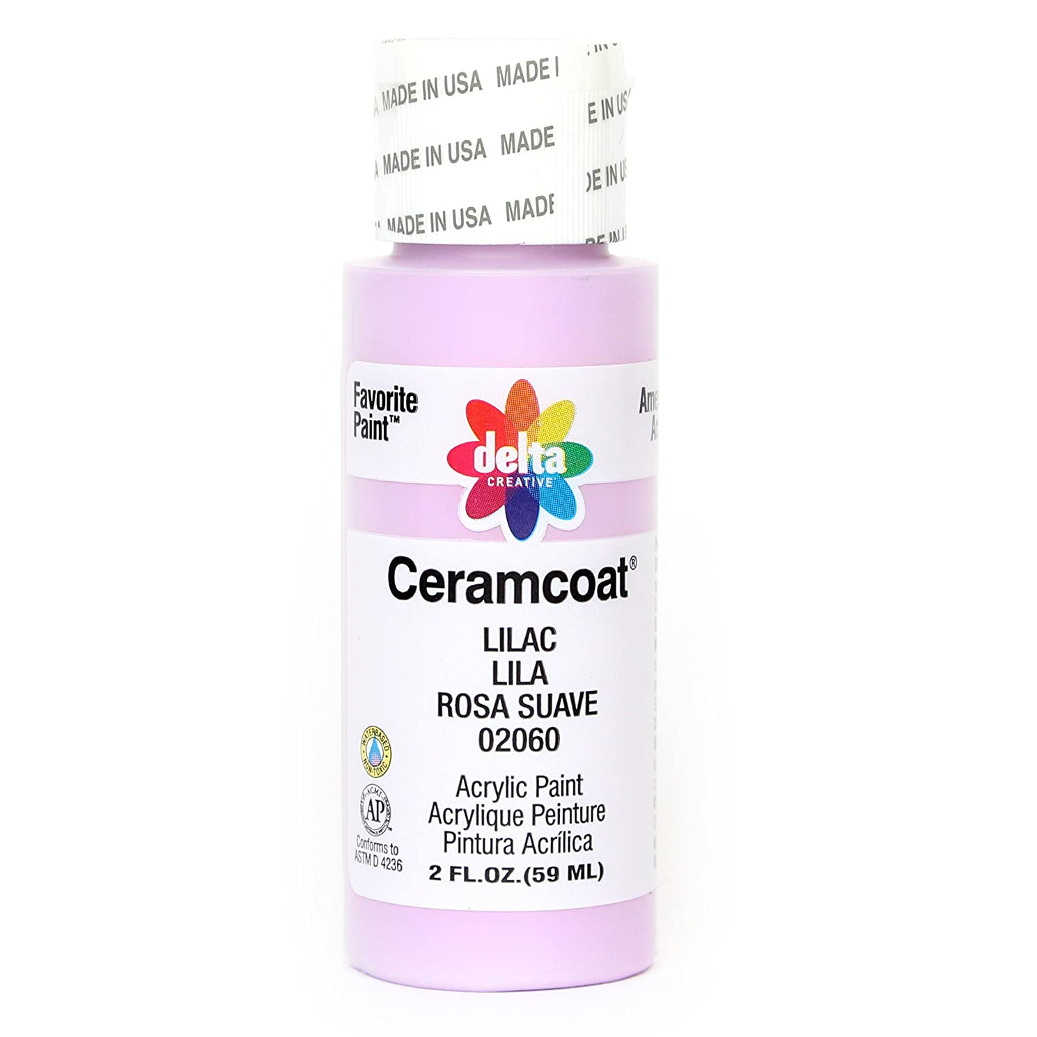 Delta Creative Ceramcoat Acrylic Paint in Assorted Colors (2 oz), 2060, Lilac
