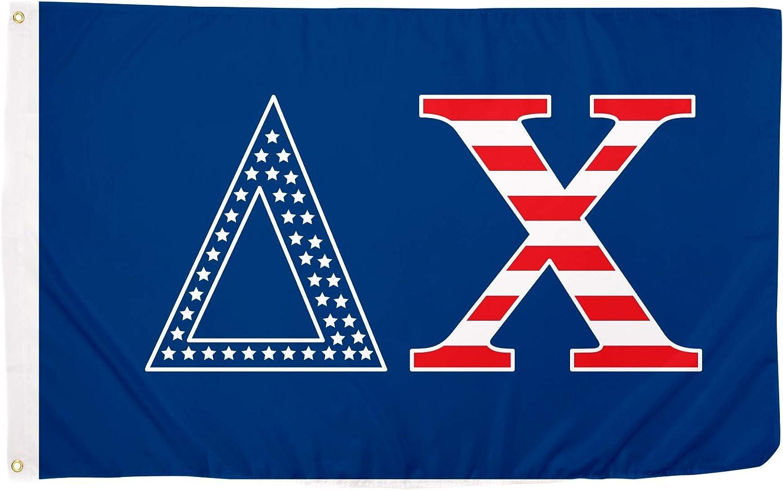 Delta Chi USA Pattern Letter Fraternity Flag 3 Ban feet Excellent 5 Bargain sale x
