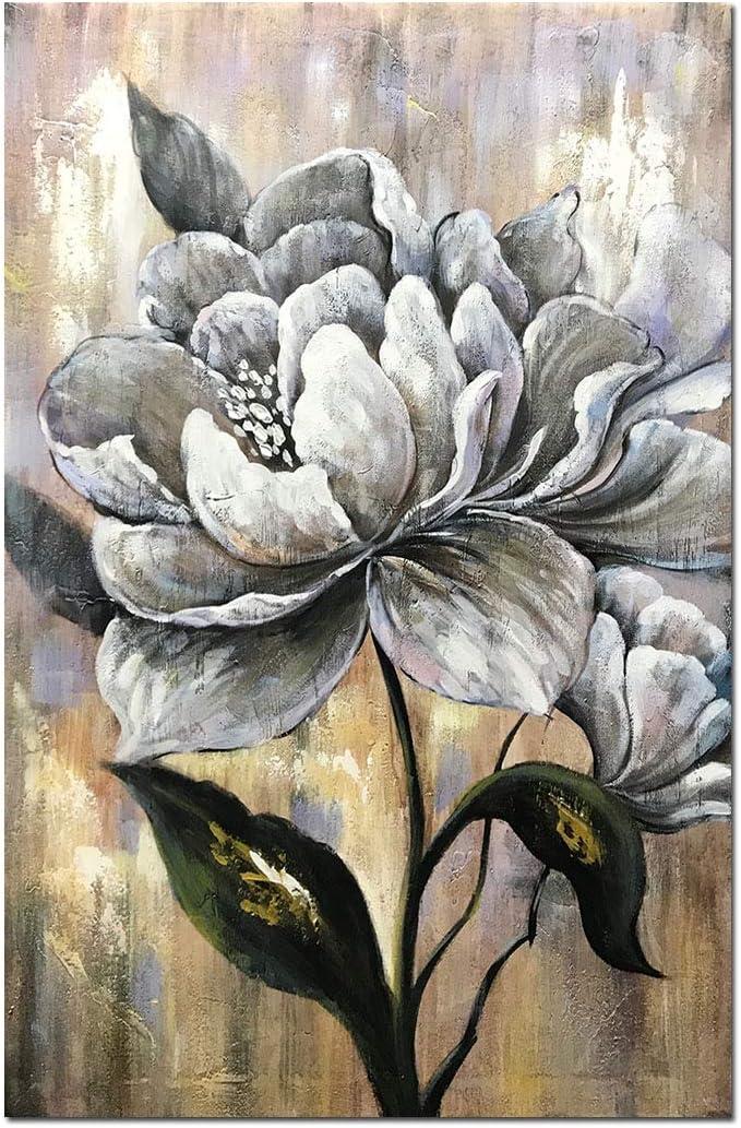 Desihum Hand Painted Canvas Spasm price Wall Art Flower Spring new work White Pai Modern Oil