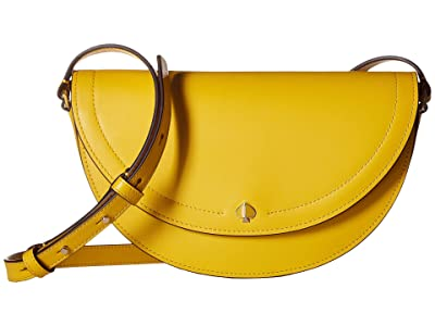 Kate Spade New York Andi Half Moon Crossbody (Vibrant Canary) Handbags