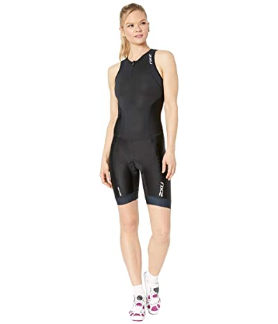 2XU Perform Front Zip Trisuit (Black/Black) Women