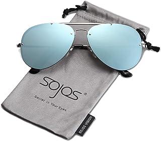 cf3f076cf4f SOJOS Rimless Aviator Sunglasses for Men and Women Metal Frame Mirrored Lens  TRENDALERT