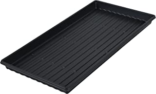 Microgreen Trays - Shallow Germination Tray No Holes - Short Seed Flats for Sprouting 10x20x1.25 (10)