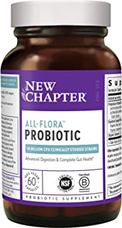 New Chapter Probiotic All-Flora, 60ct (2 Month Supply) for Advanced Immune Support with Prebiotics + Postbiotics for Women...