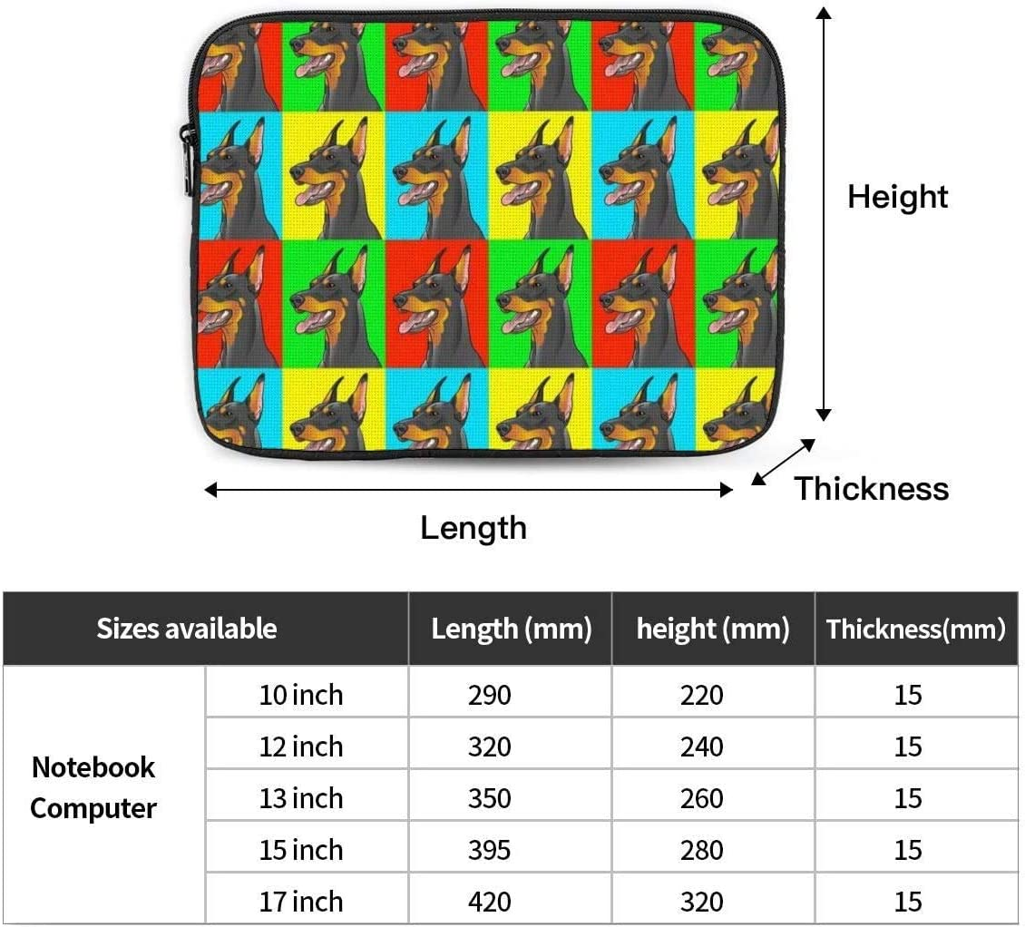 Tablet Protective Case Doberman Pinscher Dogs Laptop Travel Cover Sleeve Bag fit for 10-17 inch Laptop