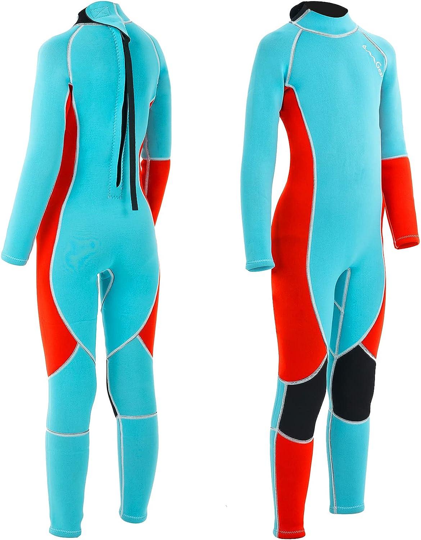 OMGear Kids Wetsuit 3mm Full Neoprene Swimming Long Sl Elegant Over item handling ☆ Suit