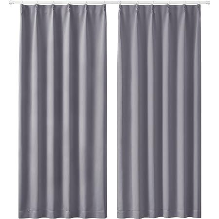 Bedsure遮光カーテン1級防音断熱しゃこう一級遮光 遮熱遮音2枚組セット かーてん幅100cm丈178cmしゃねつグレーせっとおしゃれ