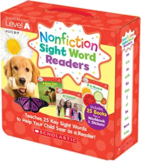 Scholastic SC-584281 Nonfiction Sight Word Readers Set, Level A (Pack of 27)