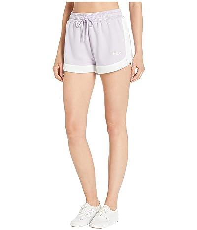 Fila Danita Side Snap Shorts (Pastel Lilac/White) Women