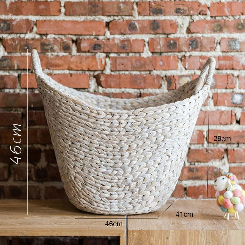LDFN Umbrella Stand European Style Pastoral Decoration Multifunctional Decorative Flower Pot Storage Basket,White-46  41  46cm