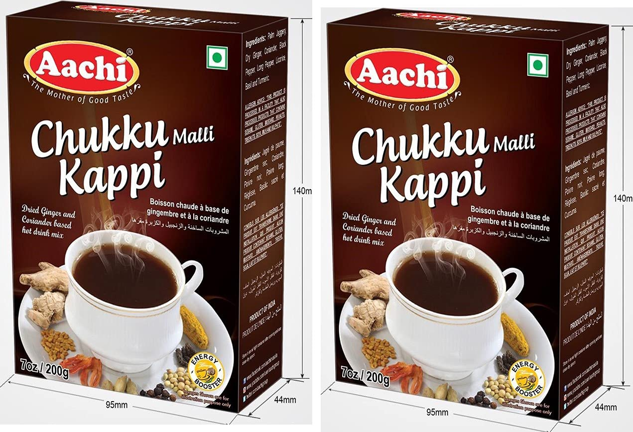 AACHI Chukku Mali Kappi 200 gms store -TWIN PACK Super Special SALE held X OF 2 PACK-