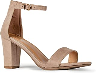 Elaine High Heel - Classic Adjustable Ankle Strap Chunky Block Pumps