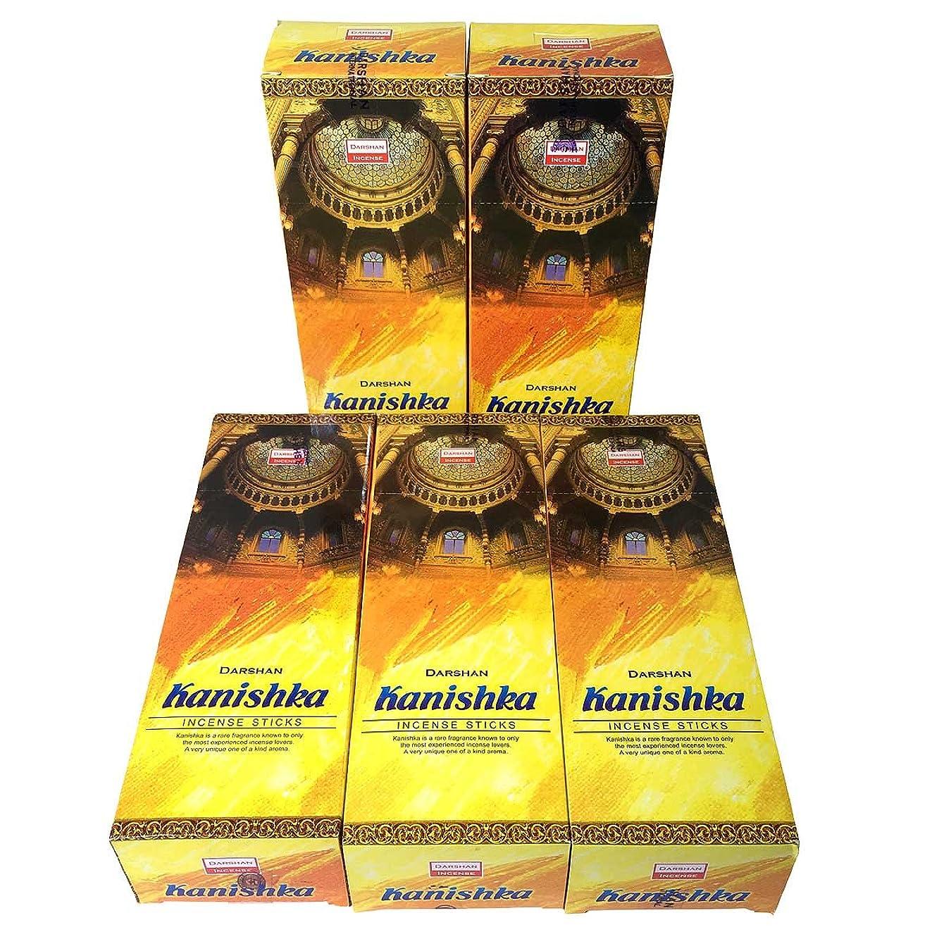 前置詞スナップなにカニシュカ香スティック 5BOX(30箱)/DARSHAN KANISHKA/ インド香 / 送料無料 [並行輸入品]