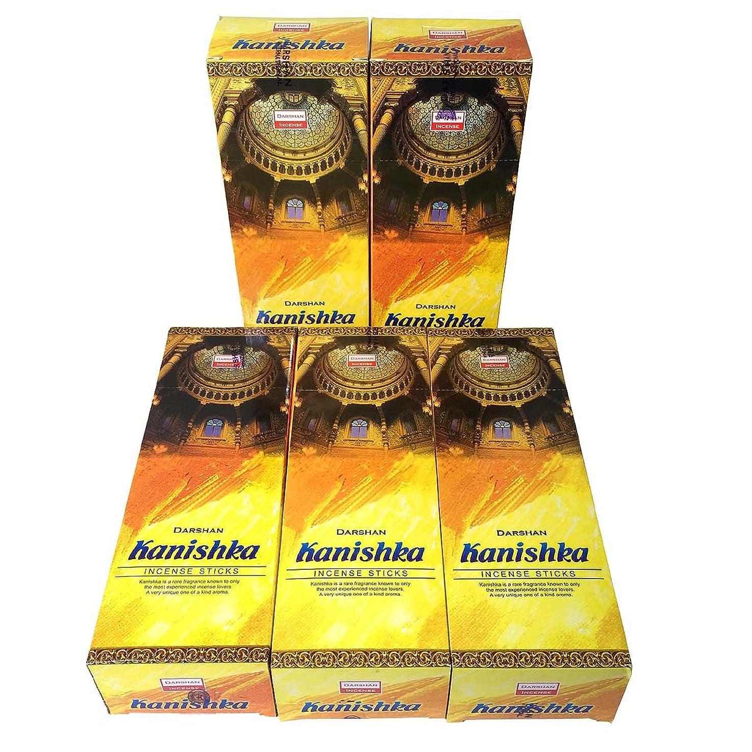 摩擦苦難スパンカニシュカ香スティック 5BOX(30箱)/DARSHAN KANISHKA/ インド香 / 送料無料 [並行輸入品]