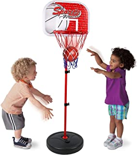 Mumoo Bear Play Basketball Hoop for Kids Toy Set Adjustable Height Stand Up to 150cm