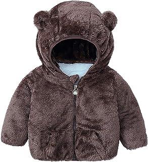 Sunnymi - Chaqueta de invierno con capucha, para niños de 3 a 9 años, con cremallera