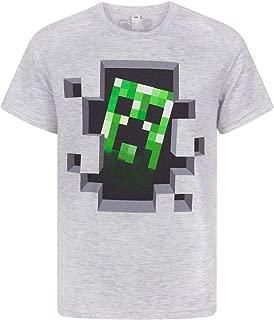 Official Minecraft Creeper Boy's Grey T-Shirt