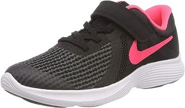 Nike Australia Revolution 4 (PS) Girls Running Shoes, Black/Racer Pink-White
