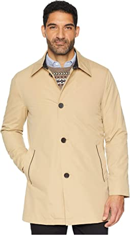 City Rain Button Front Carcoat with Detachable Liner