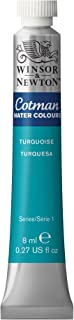 Winsor & Newton Cotman Water Colour Paint, 8ml tube, Turquoise
